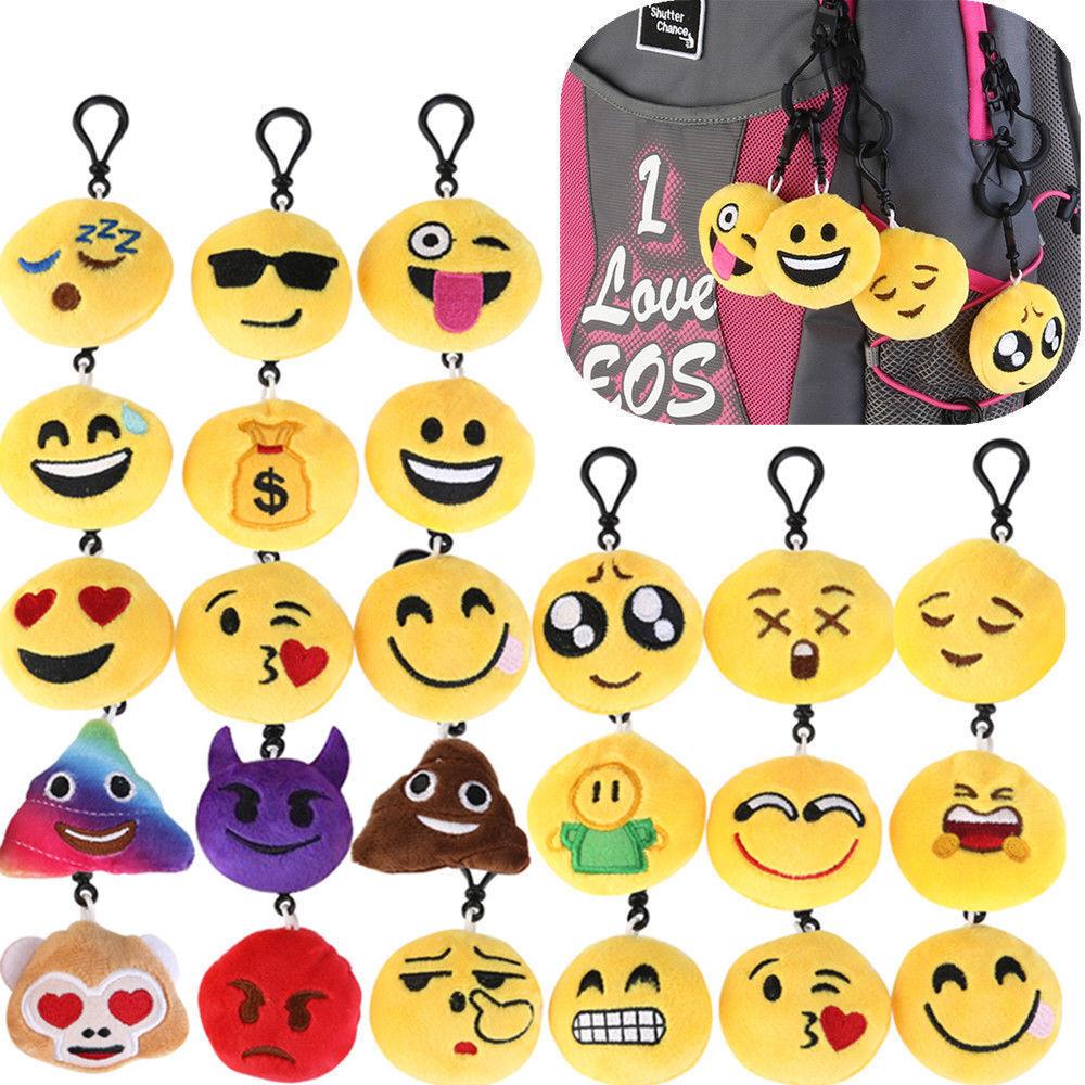 Cute Emoji iEmoji Emoticon Funny Toy Keychain Pocket Key Sulkiness