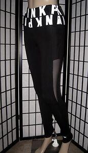 14f3d48d1d NWT VICTORIA'S SECRET PINK FRIDAY BLACK WHITE LOGO COTTON MESH ...
