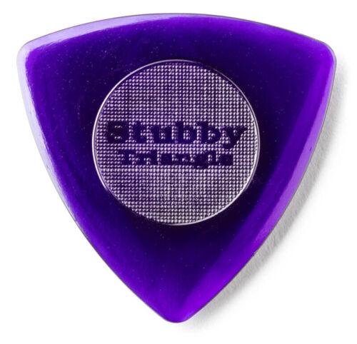 JIM DUNLOP 473 Tri Stubby Plektrum 3,00mm violett