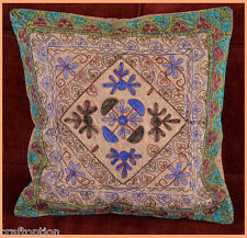 India Stone wash Cotton Embroidery Hand Made Pillow Cover from Craft Options!