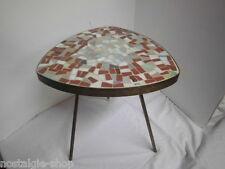 Blumentisch Blumenhocker mit Mosaikstein 50er Dreibein Handarbeit 50s 60s Tisch