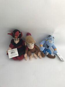 Vintage Beanie Disney Aladdin Genie Abu Dolls Set of 3