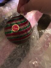 MMa Murano Glass Christmas Ornament Made In Italy