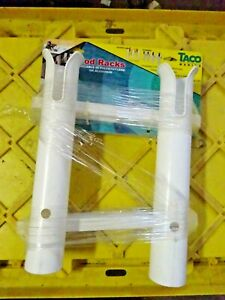 Taco-Boat-Fishing-Rod-Holder-P03-062W-White-11-1-2-Inch-SMALL-DEFECT-SOMEWHERE
