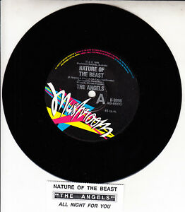 THE-ANGELS-Nature-Of-The-Beast-amp-All-Night-For-You-7-034-45-rpm-vinyl-record