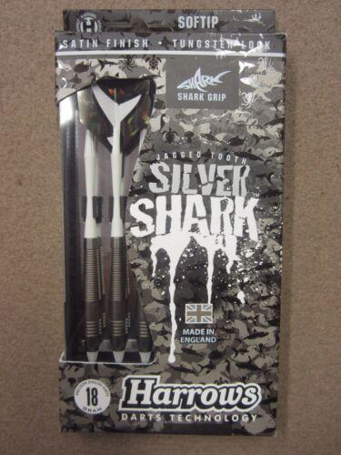 Harrows Silver Shark 18g Soft Tip Darts 55931 w// FREE Shipping