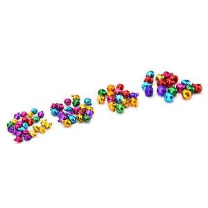 100X-Set-Small-Jingle-Bells-Colorful-Loose-Beads-Decoration-Pendant-DIY-Craft-MO