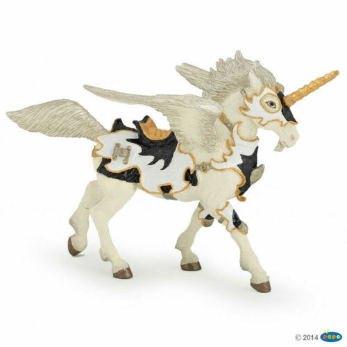 PAPO 38829 Black White Unicorn Pegasus 18cm Fantasy