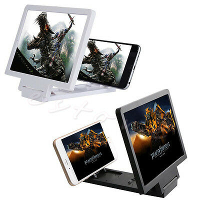 1Pc Mobile Phone 3D Magnifier Folding Portable Screen HD Amplifier Enlarge Stand