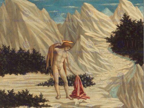 DOMENICO VENEZIANO ITALIAN SAINT JOHN DESERT OLD ART PAINTING POSTER BB5197B