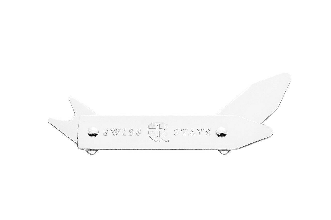 Swiss Collar Stays - pack of 3 adjustable collar stiffeners in gift box
