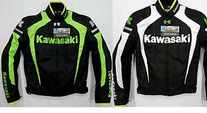 GIACCA-KAWASAKI-CORDURA-SFODERABILE-MOTO-SPORT-PROTEZIONI-CE-TUTA-RACING-TESSUTO