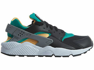new arrivals e4197 9c905 Image is loading Nike-Air-Huarache-Mens-318429-018-Black-Emerald-