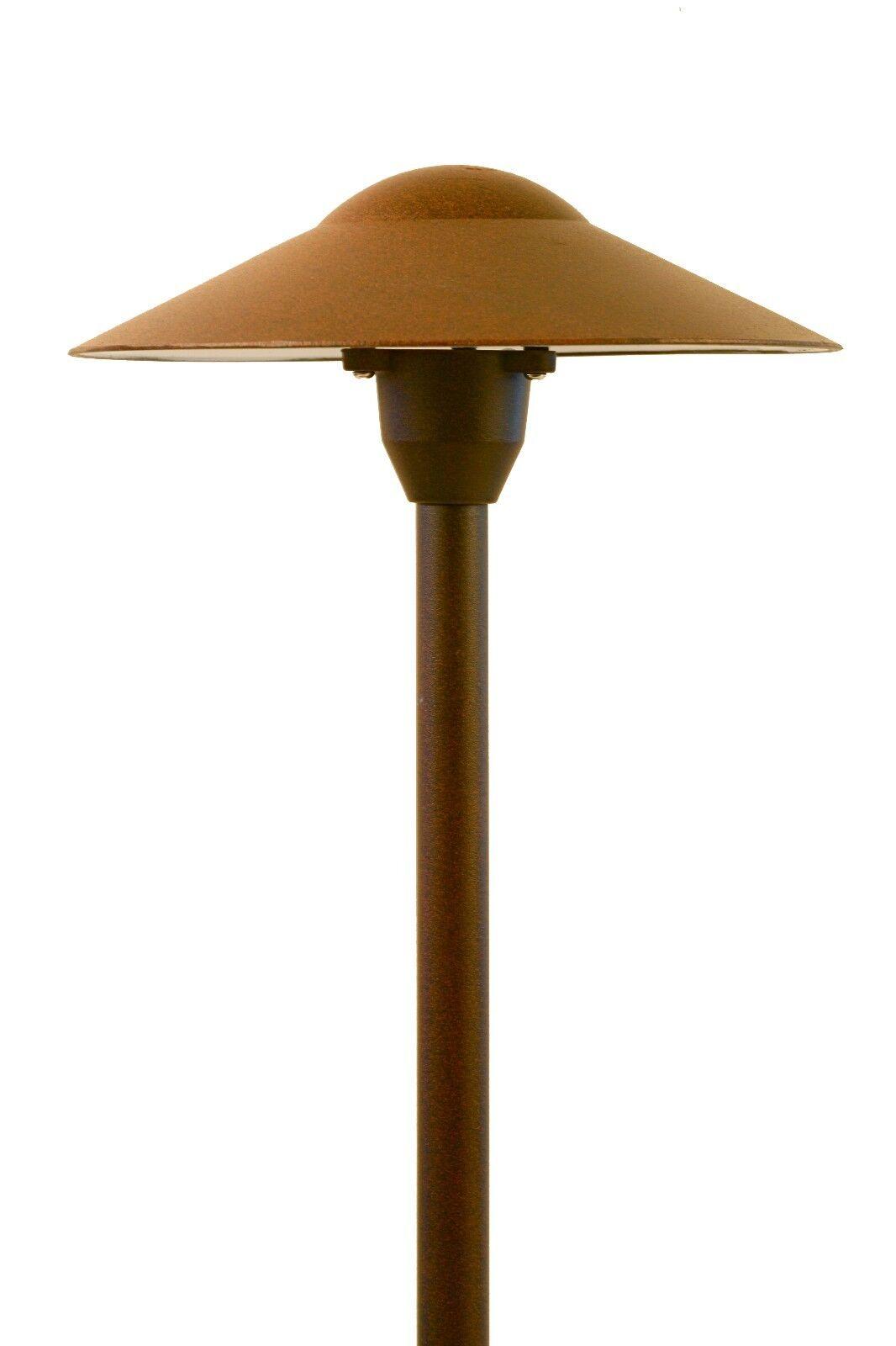 Paisaje de baja tensión de iluminación luz de ruta-Mushroom en acabado óxido Paquete de 6