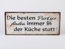Lafinesse Vintage Schild die Besten Partys Küche Nostalgie Metallschild  Shabby