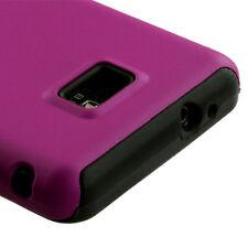 Straight Talk Samsung Galaxy II 2 S959G Hybrid Rubber Skin Case Cover Pink Black