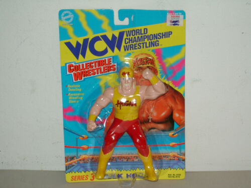 Hulk Hogan Série 3 à collectionner Lutteur Comme neuf on Card Action Figure 1994 WCW