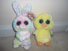 Ty, Bubby&Nugget Beanie Boos,New for Easter 2017,Bunny/Exclusive Chic. CUTE/TP'd