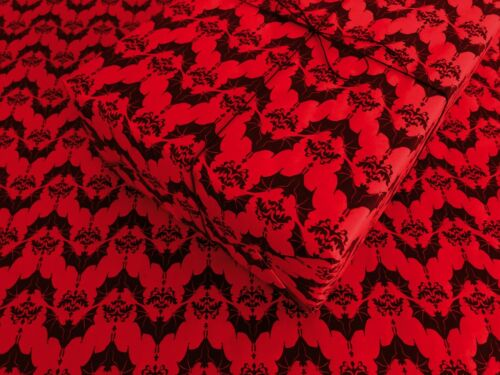 Baroque Bats on Red Gothic Wrapping Paper up to 8 Feet of Birthday Gift Wrap