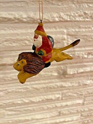 RARE *SIGNED House of Hatten SUSAN M SMITH Ornament SANTA CUBS Riding POLAR BEAR