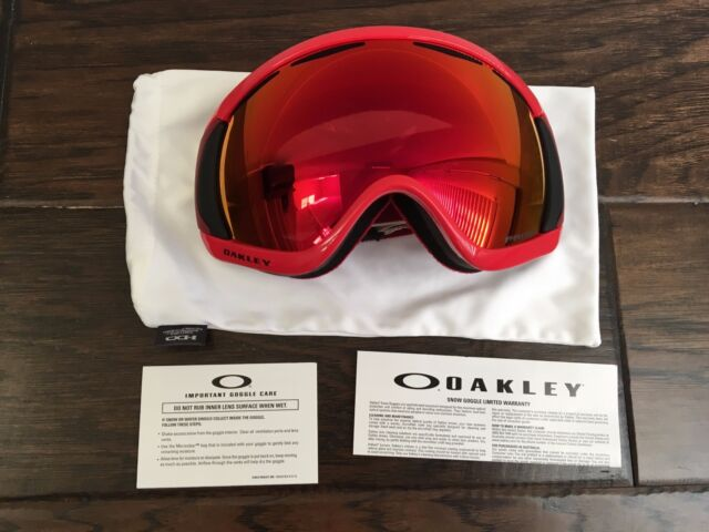 0fafca79b25 Oakley Canopy Red Oxide Prizm Torch Iridium Ski Snow Snowboard Goggles