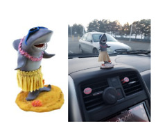 Shark Funny Hawaiian Mini Dashboard Hula Doll Vintage Style Tiki Decor 2 X 4