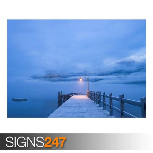 AD931 NATURE POSTER Photo Poster Print Art * All Sizes PIER WINTER LANDSCAPE