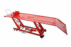 FoxHunter-1000lb-Hydraulic-Bike-Motorcycle-motorbike-Workshop-Lift-Ramp-Bench-XL