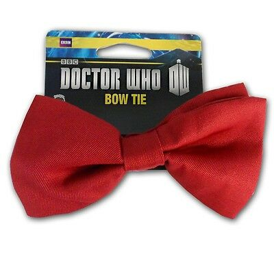 Doctor Who 11Th Doctor Red Bowtie BBC Bow Tie