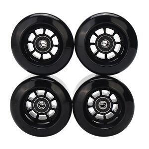 4pcs-Black-8044-80A-80mm-PU-Wheels-for-Longboard-Skateboard-Flywheels-Set