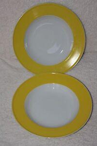 neu 6 x suppenteller gelb wei tiefe teller porzellan ebay. Black Bedroom Furniture Sets. Home Design Ideas