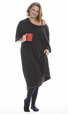 35:Nightie - PLUS SIZE cotton interlock nightdress from UK24 (5XL) to UK34 (8XL)