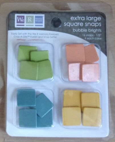 We R M Keepers Extra Large SQUARE SNAPS Bubble Brights #70072-2
