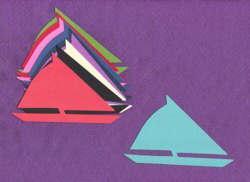 SAIL BOAT large die cuts scrapbook cards