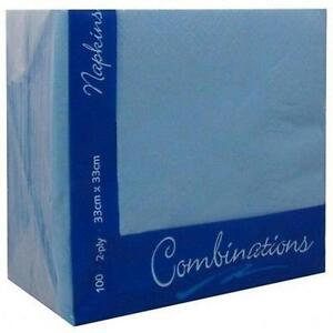100 x 2ply Cornflower Blue Paper Napkins 33cm x 33cm - <span itemprop=availableAtOrFrom>Norwich, United Kingdom</span> - returns accepted, once product has been received in the same condition refund for the product cost will be made immediately Most purchases from business sellers are protected by the Consu - Norwich, United Kingdom