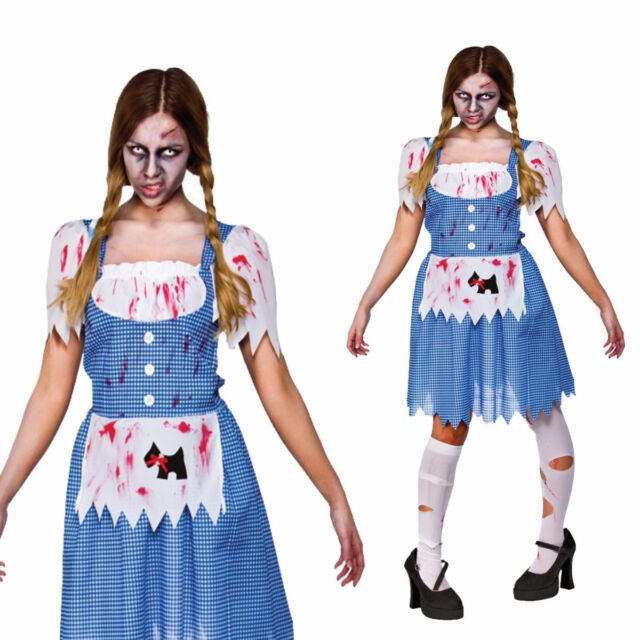 7fc962f4ca691 Ladies Womens Zombie Country Girl Costume for Halloween Living Dead ...