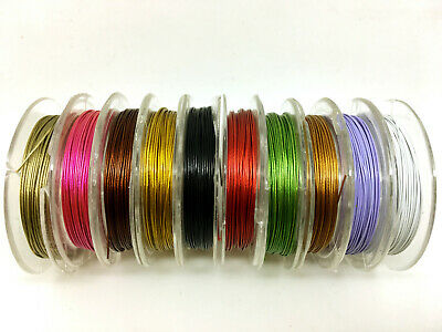 GREAT QUALITY TIGER TAIL WIRE CHOOSE COLOUR AND SIZE BEADING THREAD /</<UK STOCK/>/>