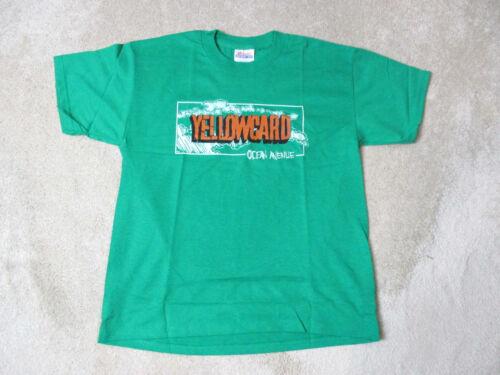 NEW Yellowcard Ocean Avenue Concert Shirt Youth Large Green Band Tour Rock Kids