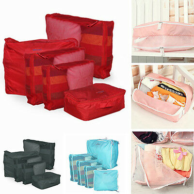 5x Clothes Underwear Socks Storage Bag Packing Cube Travel Luggage Organizer Set
