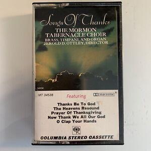 Mormon Tabernacle Choir Songs of Thanks (Cassette)