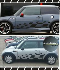 Mini Cooper Rally Turbo 2000-2015 Panel Graphics Decals Side Checkered Stripes