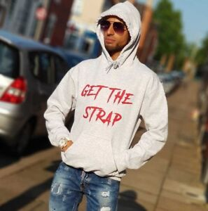 the best attitude b83af 91ce0 Details about 50CENT GET THE STRAP HOODIE G-UNIT HOODY TOP HIP HOP WEAR
