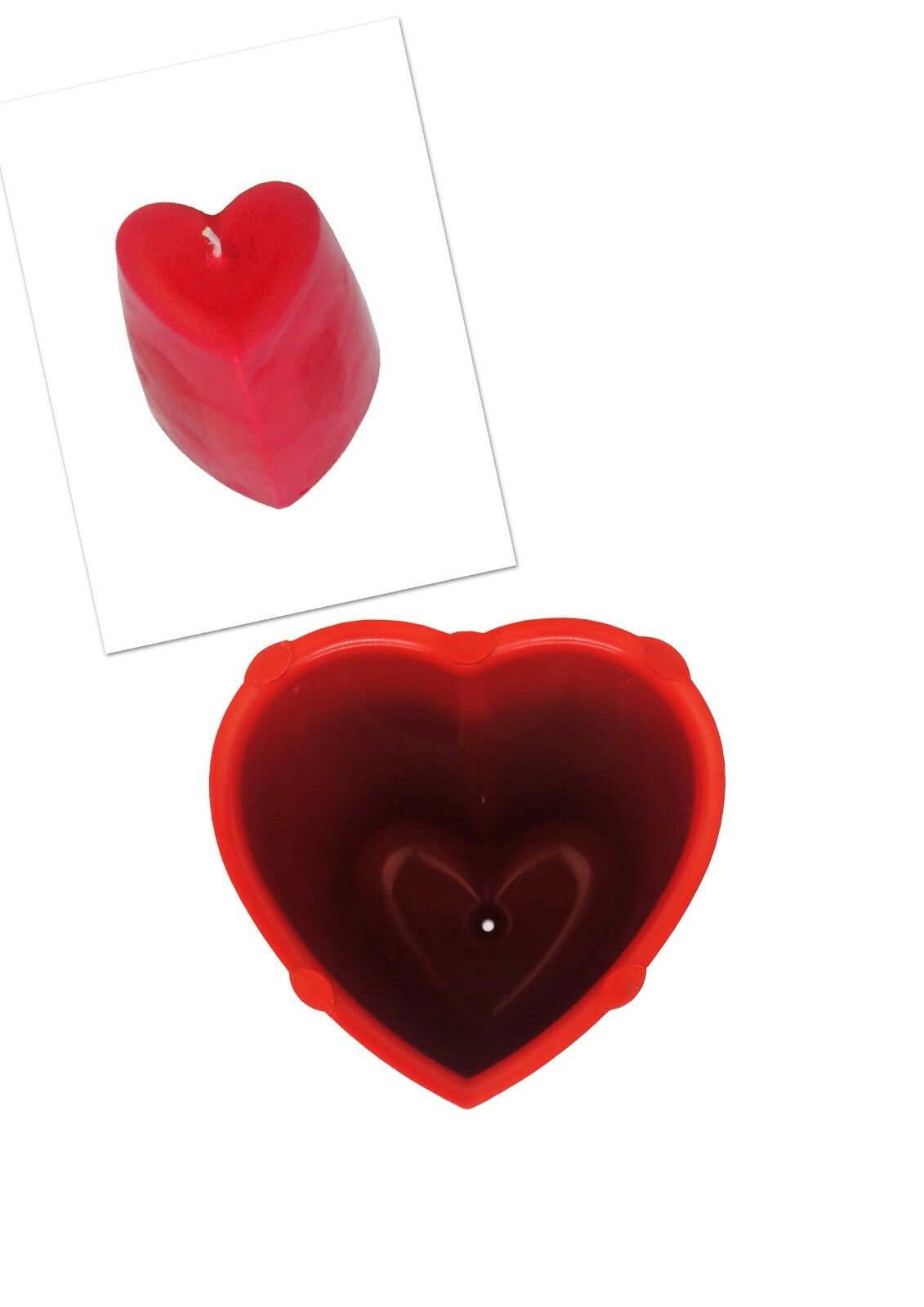 Crafts Candle Moulds Valentine Heart Shaped Mold & Pentagon Pillar Candle Making Mould S7734 Set x 2
