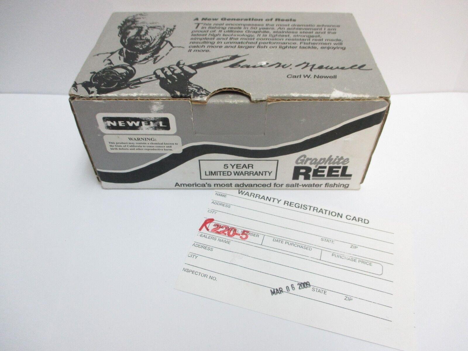 NEWELL - R220-5 Graphite - Reel Box w  Brochure