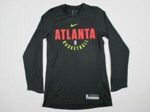 NEW-Nike-Atlanta-Hawks-Black-Dri-Fit-Long-Sleeve-Shirt-Multiple-Sizes