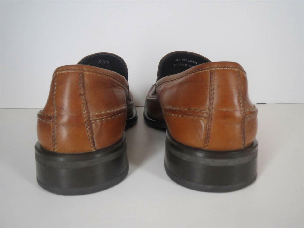 Kenneth Cole   Herren Loafers Tan Braun Slip Sole On Square Toe Rubber Sole Slip Schuhes 10 M 7f00c3
