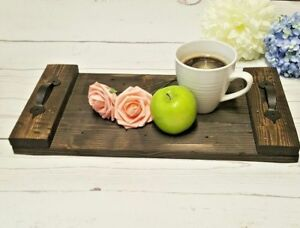 Image Is Loading Rustic Serving Tray Black Handmade Reclaimed Coffee Table