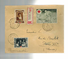 1939 Brussels  Belgium Airmail Cover to France Jose Marzorati