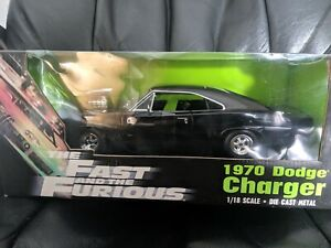 1970-Dodge-Charger-Fast-and-Furious-Black-ORIGINAL-1st-Release-1-18-Ertl-33025