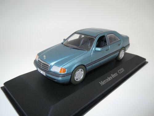 """Minichamps mercedes-benz c220 /""""comerciantes modelo/"""" 1:43 embalaje original! verde-met."""